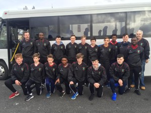 The U15's about to set off for the weekend to an International Cup tournament in Blackpool, England. Thanks to Byrne, Carolan & Cunningham Solicitors for their sponsorship of the team gear.